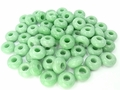 Amazonite 8x14mm Gemstone Pandora Style Beads 2 pcs.