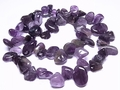 Amethyst 10x14mm Briolette Beads 16""
