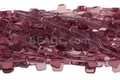 "Amethyst ""Quartz"" 12x16mm Cross Shaped Beads 16"""