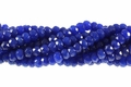 Aqua Jade 8mm Faceted Rondelle Beads 16""