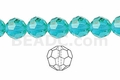 Aquamarine 8mm Faceted Round Beads 40 pcs.