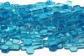 "Aquamarine ""Quartz"" 12x16mm Cross Shaped Beads 16"""