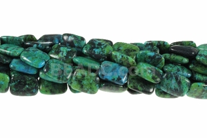 Azurite Chrysocolla 12x16mm Rectangle Beads 16""