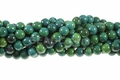 Azurite Chrysocolla 8mm Round Beads 16""