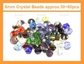 Big Pack 8mm Crystal Faceted Shape Beads approx.50~60pcs.