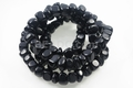 "Black Agate 10-12mm Nugget 36"" Beads 15.5"""