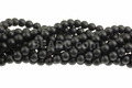 Black Agate 8mm Round Beads 15.5""