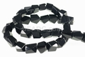 Black Agate 9x10mm Faceted Irregular Beads 15.5""