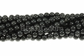 Black Gray Agate 8mm Round Beads 16""