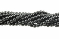 Black Magnesite 8mm Round Beads 15.5""