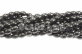 Black Magnesite 8x12mm Rice Beads 15.5""