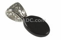 10x14mm Black Onyx Puff Top Oval Cabochon Pendant