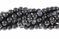 Black Stripe Agate 8mm Round Beads 16""