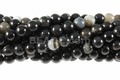 Black White Lace Agate 8mm Round Beads 16""
