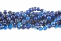 Blue Agate 8mm Round Beads 15.5""