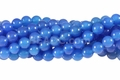 Blue Agate 8mm Round Beads 16""