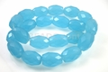 Blue Aqua Quartz 13x18mm Faceted Drum Beads 15.5""