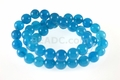 Blue Aqua Quartz 8mm Round Beads 15.5""