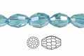 "Light Turquoise Crystal 4x6mm AB Faceted Rice 72 Beads (approx.17"")"