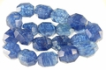 Blue Blueberry Quartz (Synthetic) 18x22mm Faceted Drum Beads 15.5""