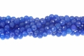 Blue Candy Jade 8mm Faceted Round Beads 16""