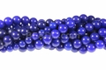 Blue Candy Jade 8mm Round Beads 16""