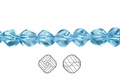 Blue Crystal 8mm Faceted Helix Beads 68-72pcs