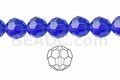 Blue Crystal 8mm Faceted Round Beads 40 pcs.