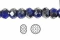 "Blue Crystal & Silver 4x3mm Faceted Rondelle Beads 150 beads (approx.18"")"