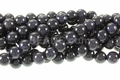 Blue Goldstone 8mm Round Beads 15""