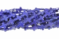 Blue Lapis Magnesite 12x16mm Cross Shaped Beads 15.5""