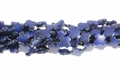 Blue Lapis Magnesite 15x15mm Cross Beads 15.5""