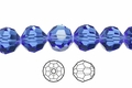 Blue Sapphire Crystal 10mm Faceted Round Beads 50 pcs.