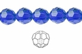 Blue Sapphire Crystal 10mm Faceted Round Beads 72 pcs.