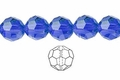 Blue Sapphire Crystal 12mm Faceted Round Beads 50 pcs.
