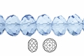 Blue Sapphire Crystal 3x4mm Faceted Rondelle Beads 100 pcs.