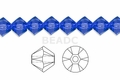 Blue Sapphire Crystal 4mm Faceted Bicone Beads 120 pcs.