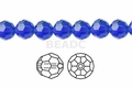 Blue Sapphire Crystal 6mm Faceted Round Beads 100 pcs.