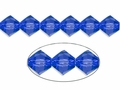 Blue Sapphire Crystal 8mm Faceted Bicone Beads 40 pcs.