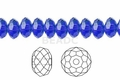 Blue Sapphire Crystal 8x10mm Faceted Rondelle Beads 72 pcs.