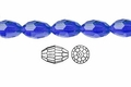 Blue Sapphire Crystal 8x12mm Faceted Rice Beads 72 pcs.