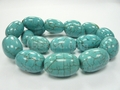 Blue Turquoise 15x22mm Rice Beads 16""