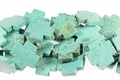 Blue Turquoise 40mm Cross Shaped Beads 16""