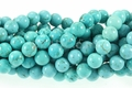 Blue Turquoise 8mm Round Beads 16""