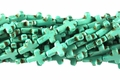 Blue Turquoise Magnesite 12x16mm Cross Shaped Beads 15.5""