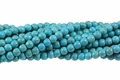 Blue Turquoise Magnesite 8mm Round Beads 15.5""