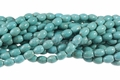 Blue Turquoise Magnesite 8x12mm Rice Beads 15.5""