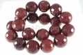 Brown Agate 20mm Faceted Disco Beads 15.5""