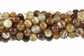Brown Agate 8mm Round Beads 16""