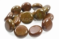 Brown Petrifeld Wood Agate 30x22mm Round Beads 15.5""